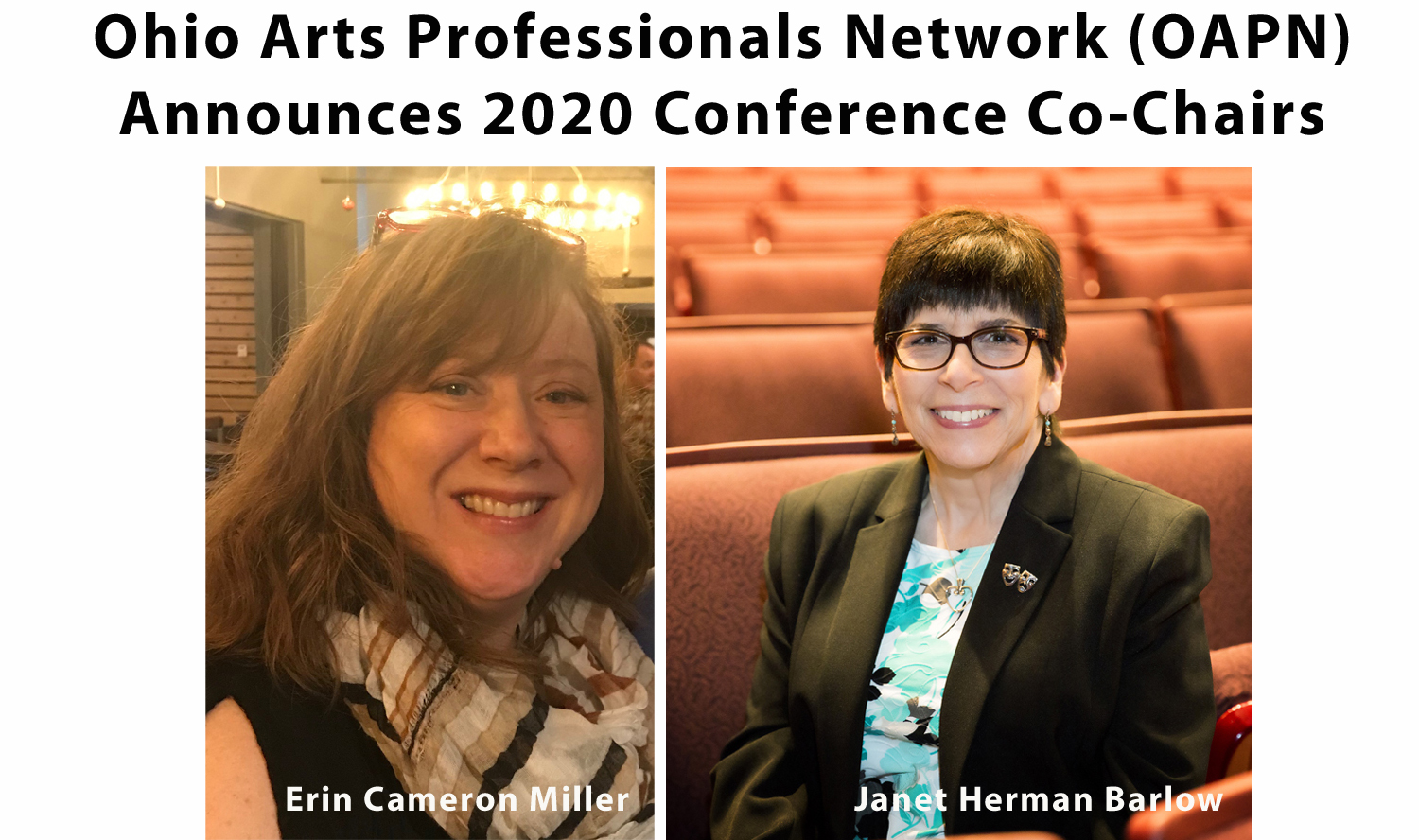 Ohio Arts Professionals Network (OAPN) Announces 2020 Conference Co-Chairs