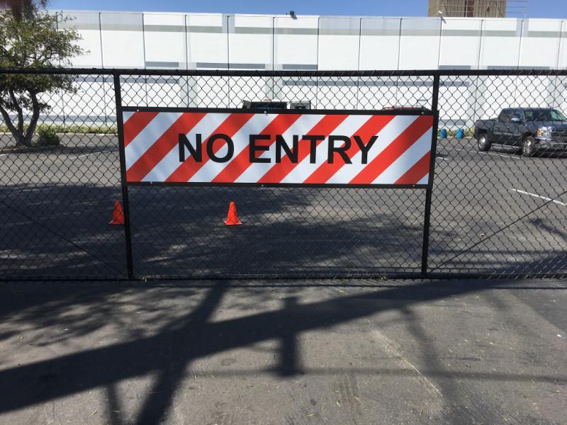 Warehouse Gate Sign