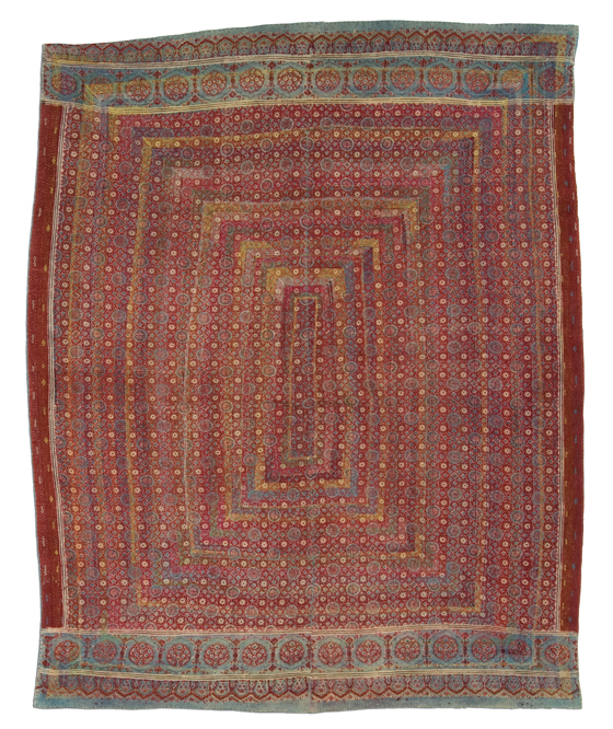 Lassi Ralli quilt, Saami People, probably made in Sindh, Pakistan, circa 1960-1980, purchase made possible through James Foundation Acquisition Fund, 79 x 53 in, IQSCM 2005.033.0007