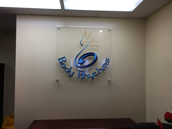 Acrylic lobby signs with stand-offs Irvine CA