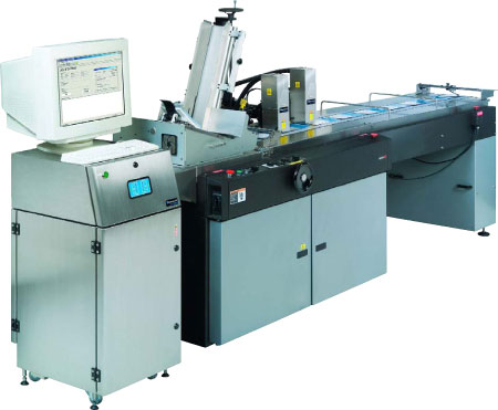 (2)MCS Inkjet Mailing Systems w/ Inline Tabbing Units