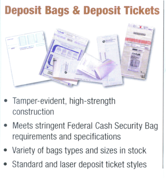 Deposit Bags and Tickets