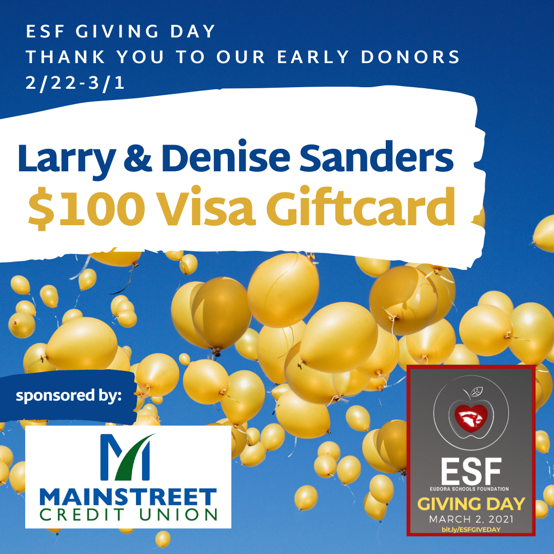 Thank you to our Early Donors - $100 Visa Gift Card