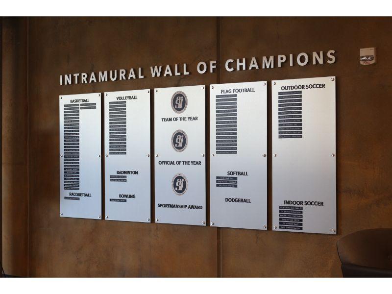 Brushed Aluminum Student Athlete Wall of Fame | Fullerton CA