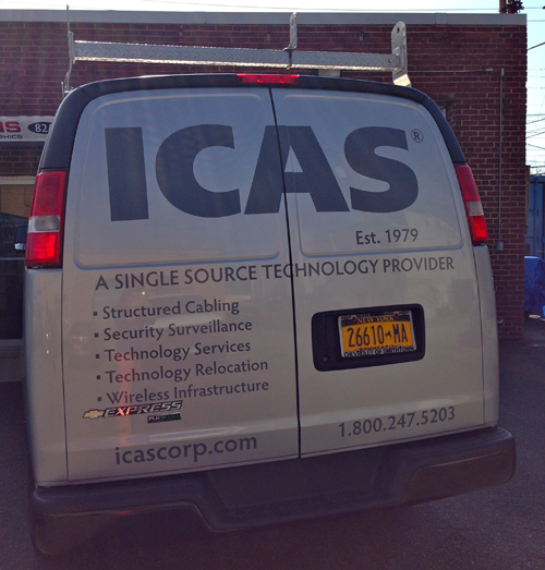 ICAS Van Wrap Back View