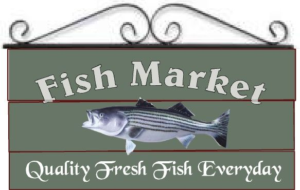 "Q25152 - Design of Carved Wood or HDU Fish Market Sign for ""Quality Fresh Fish Everyday,"" Carved Fish"
