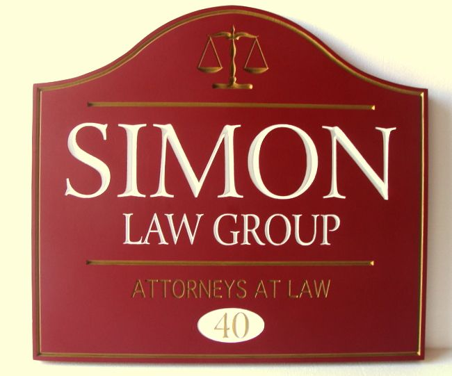 A10106 - Carved Law Group Sign
