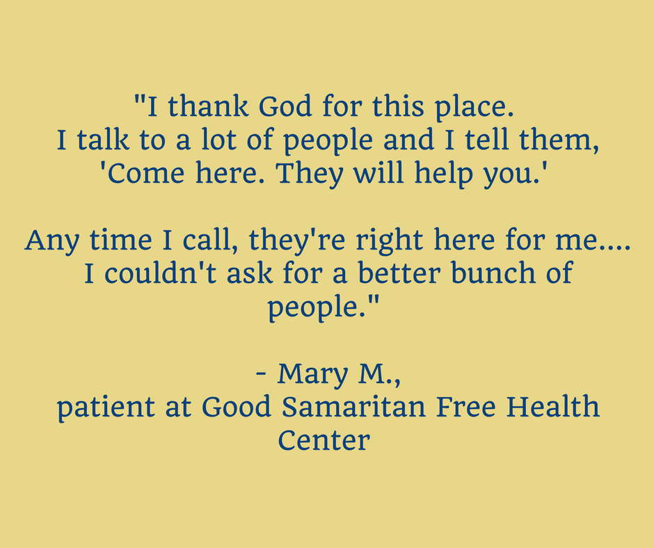 Mary - Good Samaritan Free Health Center