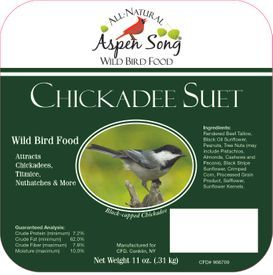 Aspen Song Chickadee Suet
