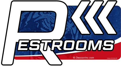 Directional Sign: Restrooms