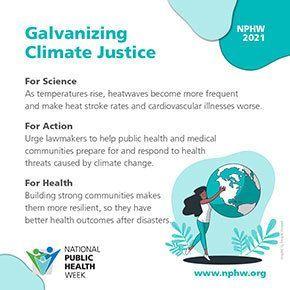 NPHW - Galvanizing Climate Change