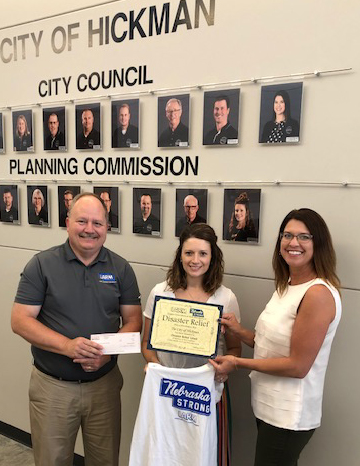 $500 to City of Hickman for Disaster Relief