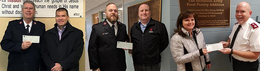 Eakes Donates $1500 to Salvation Army