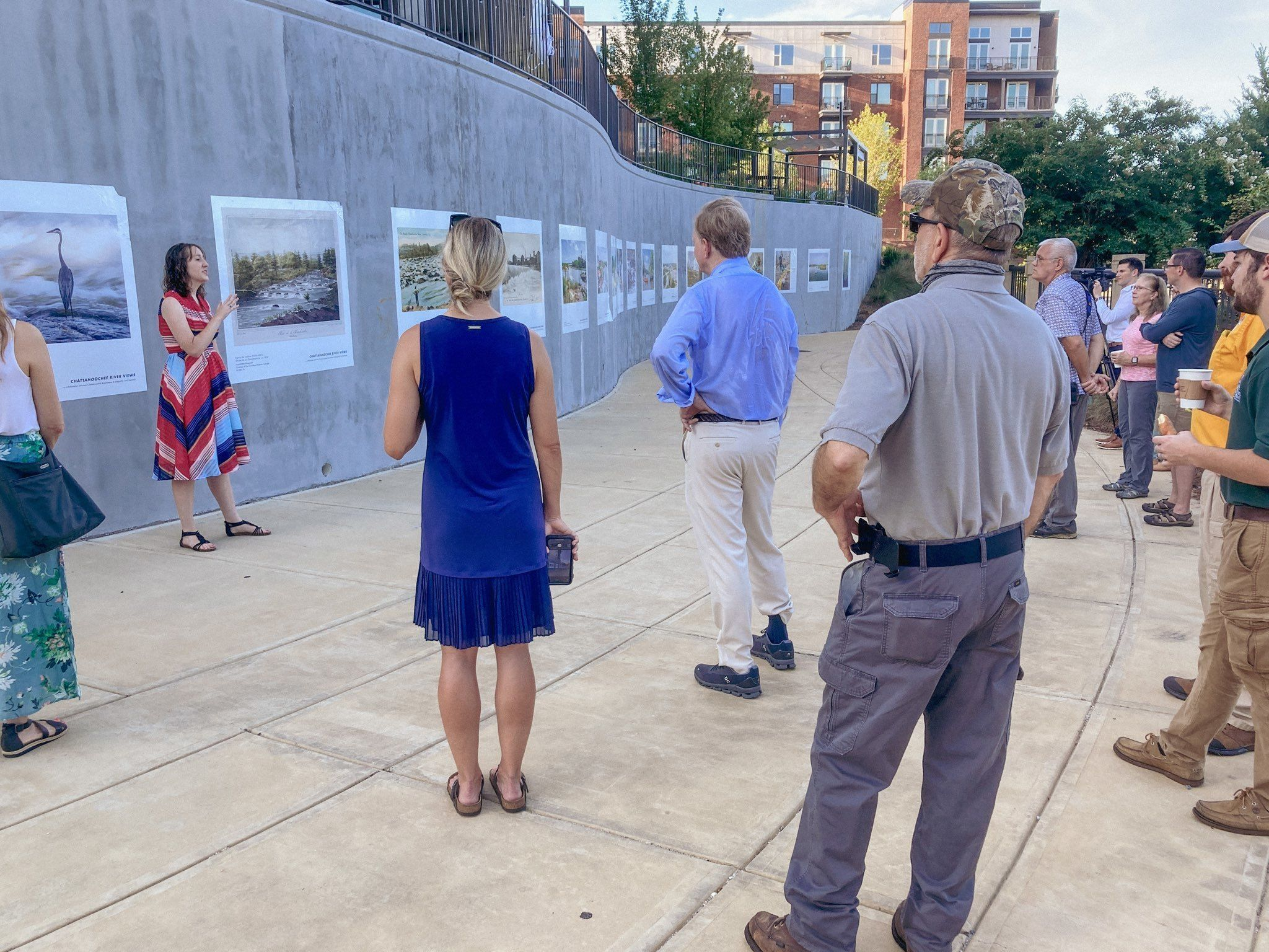 Public art exhibit unveiled on the Columbus Riverwalk, highlighting the history of the Chattahoochee River