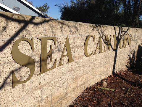 Aluminum wall lettering for HOAs in Orange County