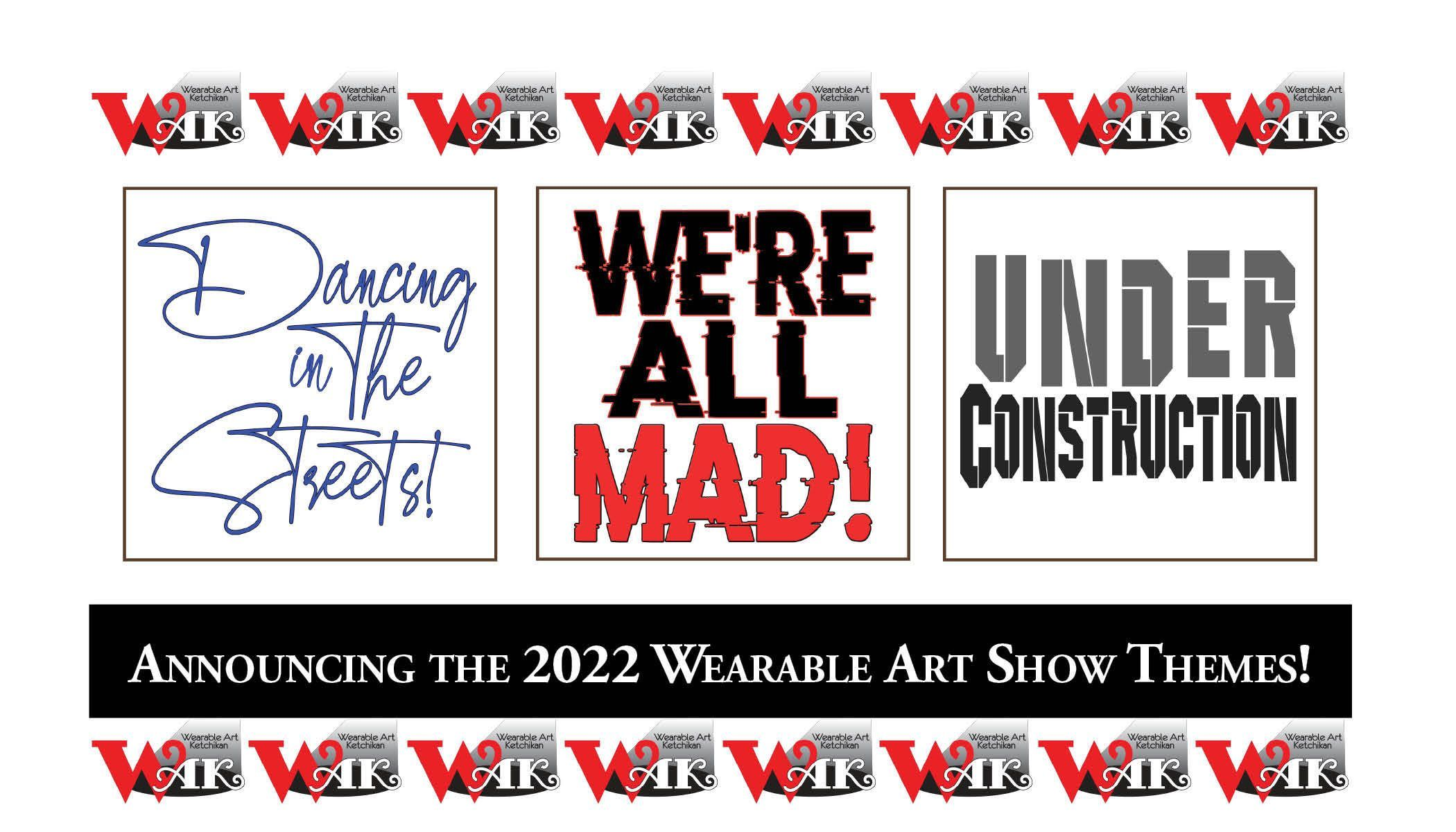 Announcing the 2022 Wearable Art Show Themes!