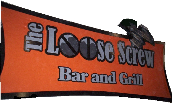 RB27105 - Large Carved Wood Wall Bar & Grill Sign