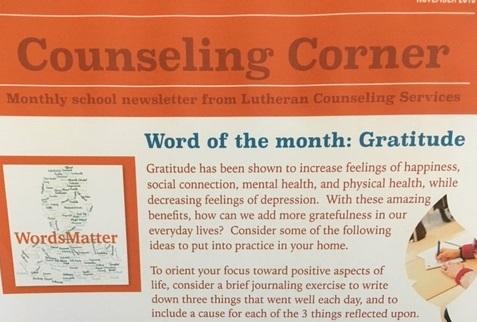 Counseling Corner November