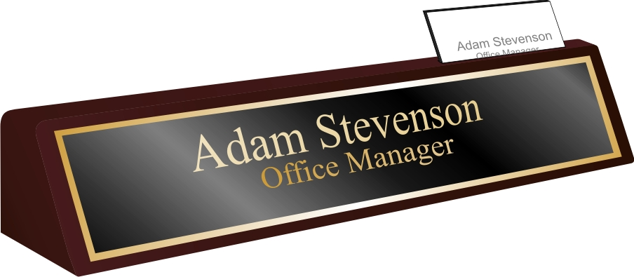 Executive Desk Plate With Card Holder