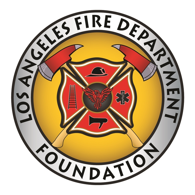 QP-3070 - Carved Wall Plaque of  the Seal  of the  Los Angeles  Fire Department Foundation, California,  Artist Painted