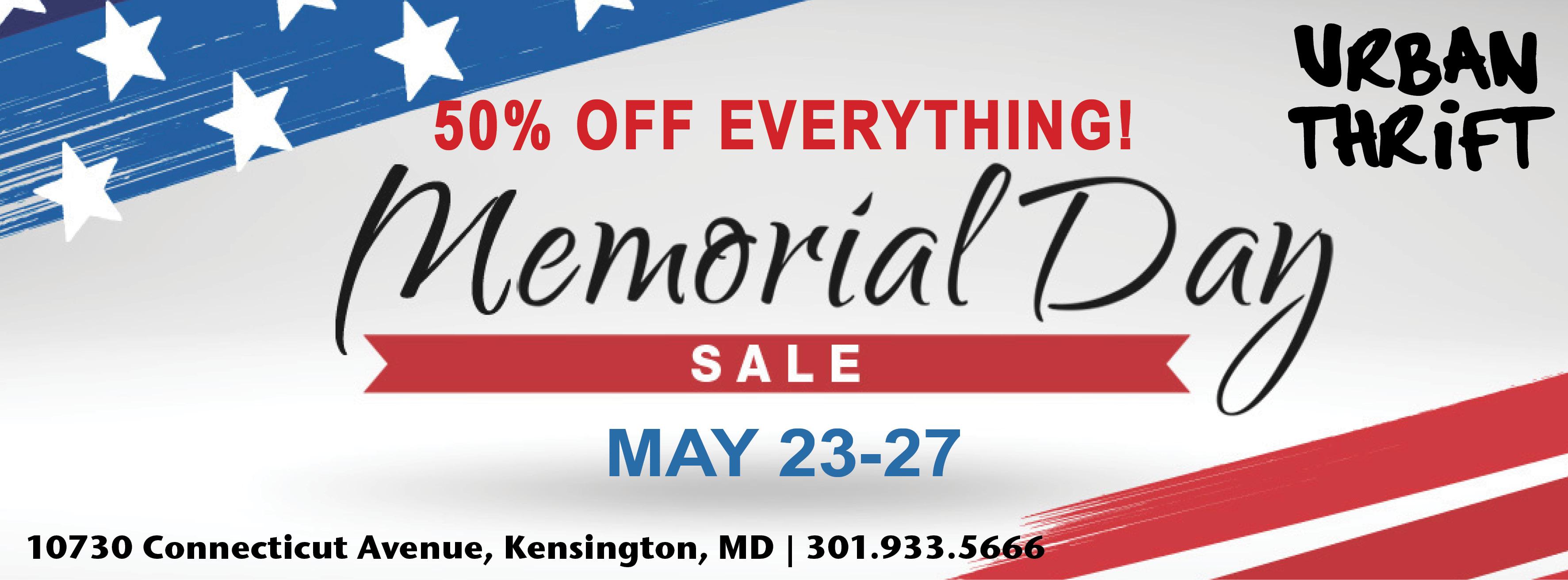 Urban Thrift – Memorial Day Sale