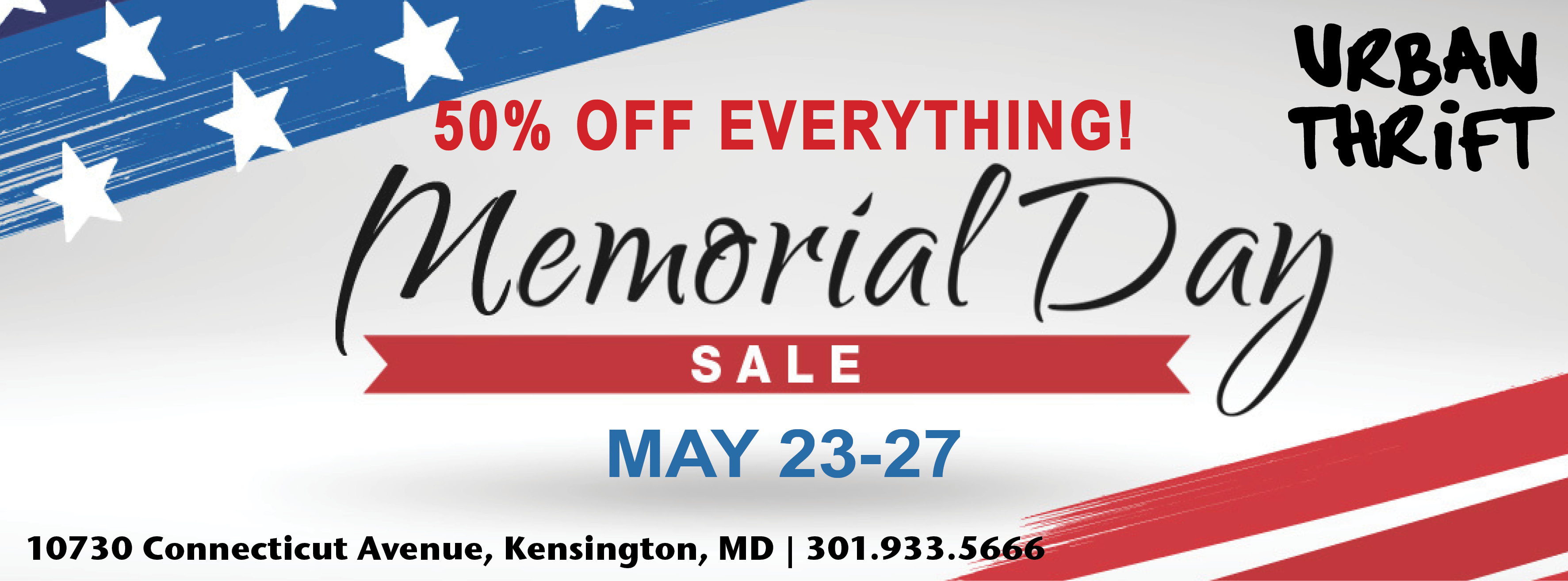 Urban Thrift – Memorial Day Sale