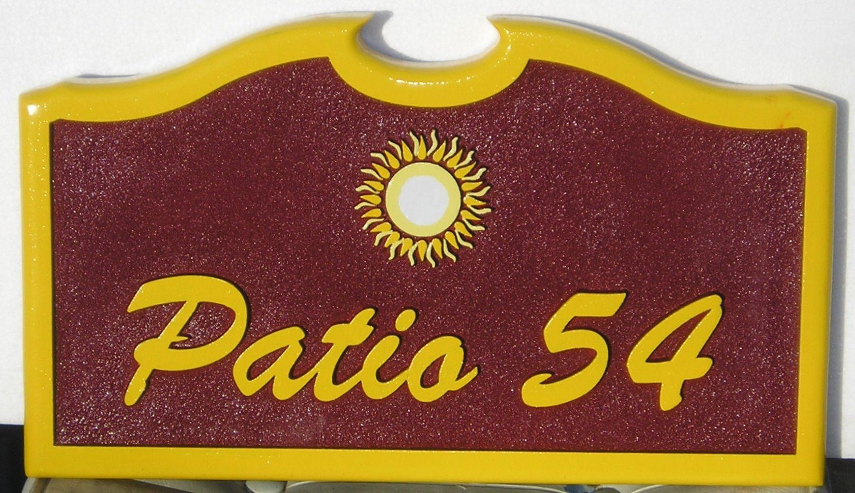 M1604 - Address /Patio Sign (Gallery 18)