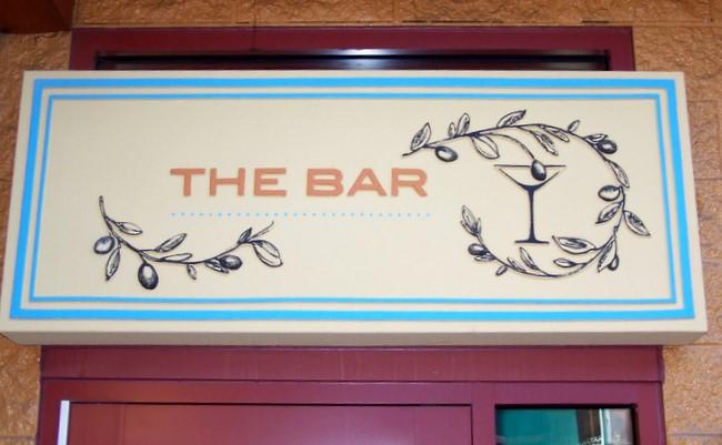 RB27135 - Elegant  Carved  Bar Entrance Sign