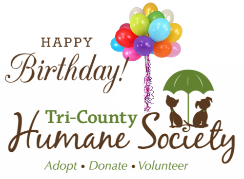 PRESS RELEASE:  TRI-COUNTY HUMANE SOCIETY CELEBRATES 45 YEARS