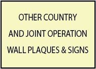 Wall Plaques of Military Emblems and Seals of Other Countries and Joint Operations with US