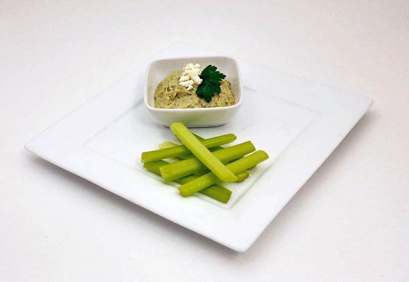 Hummus with celery sticks