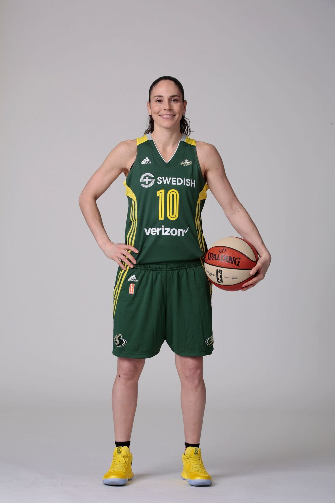 Sue in her Seattle Storm uniform.