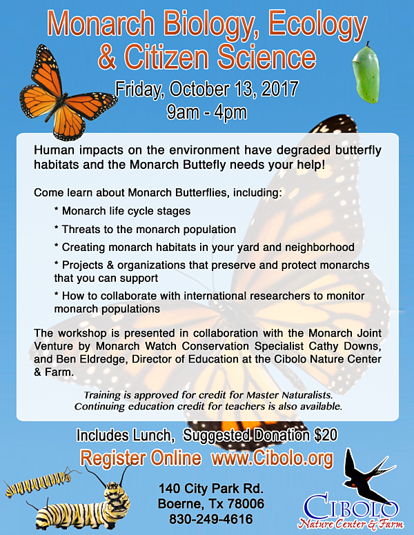 CNC: Monarch Biology, Ecology & Citizen Science