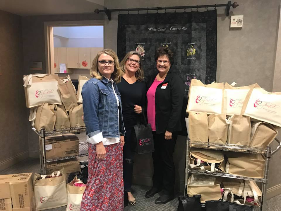 Project Pink'd Delivers Hundreds of Healing Hearts Survivor Kits