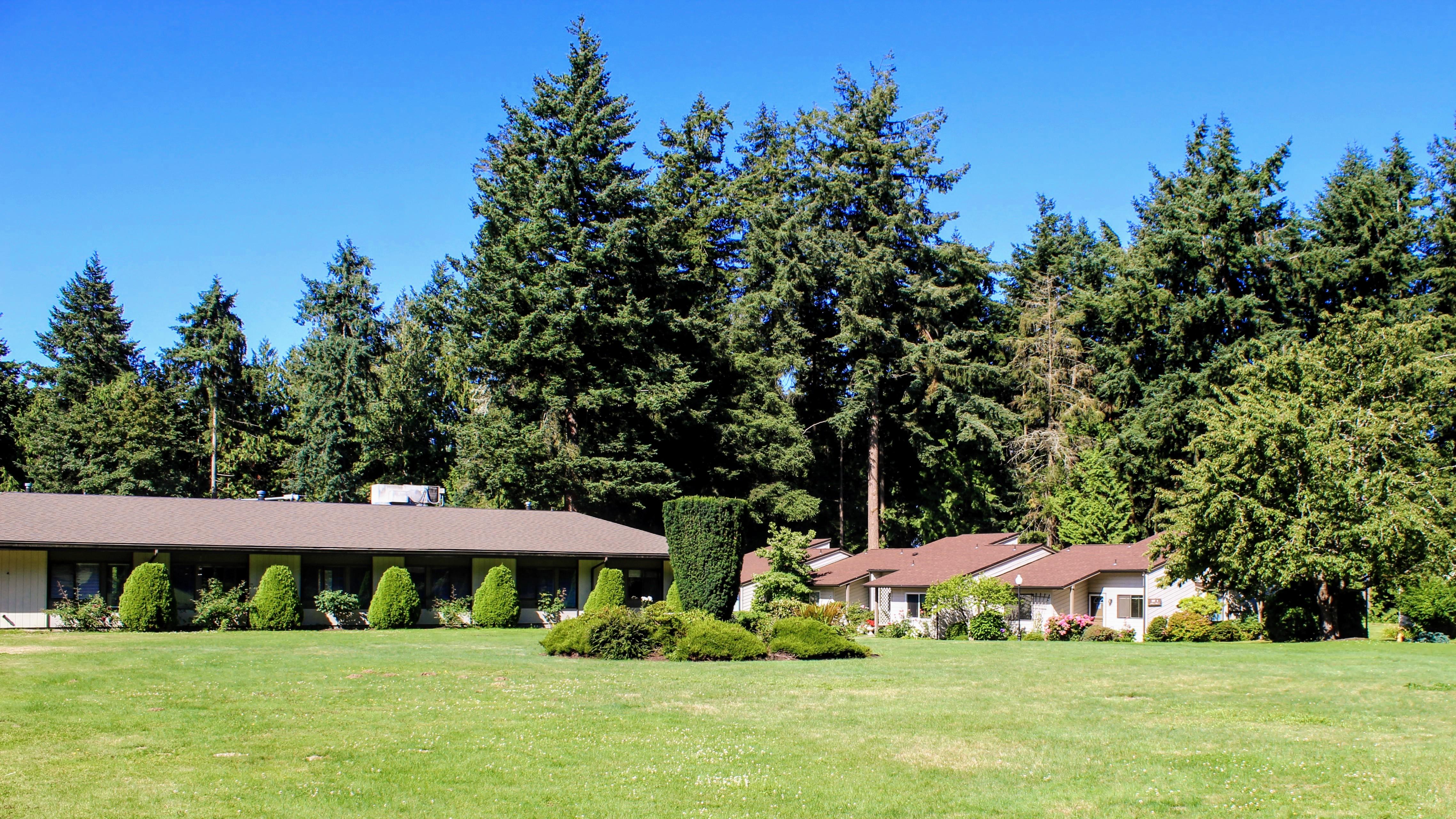 Healthcare center lawn