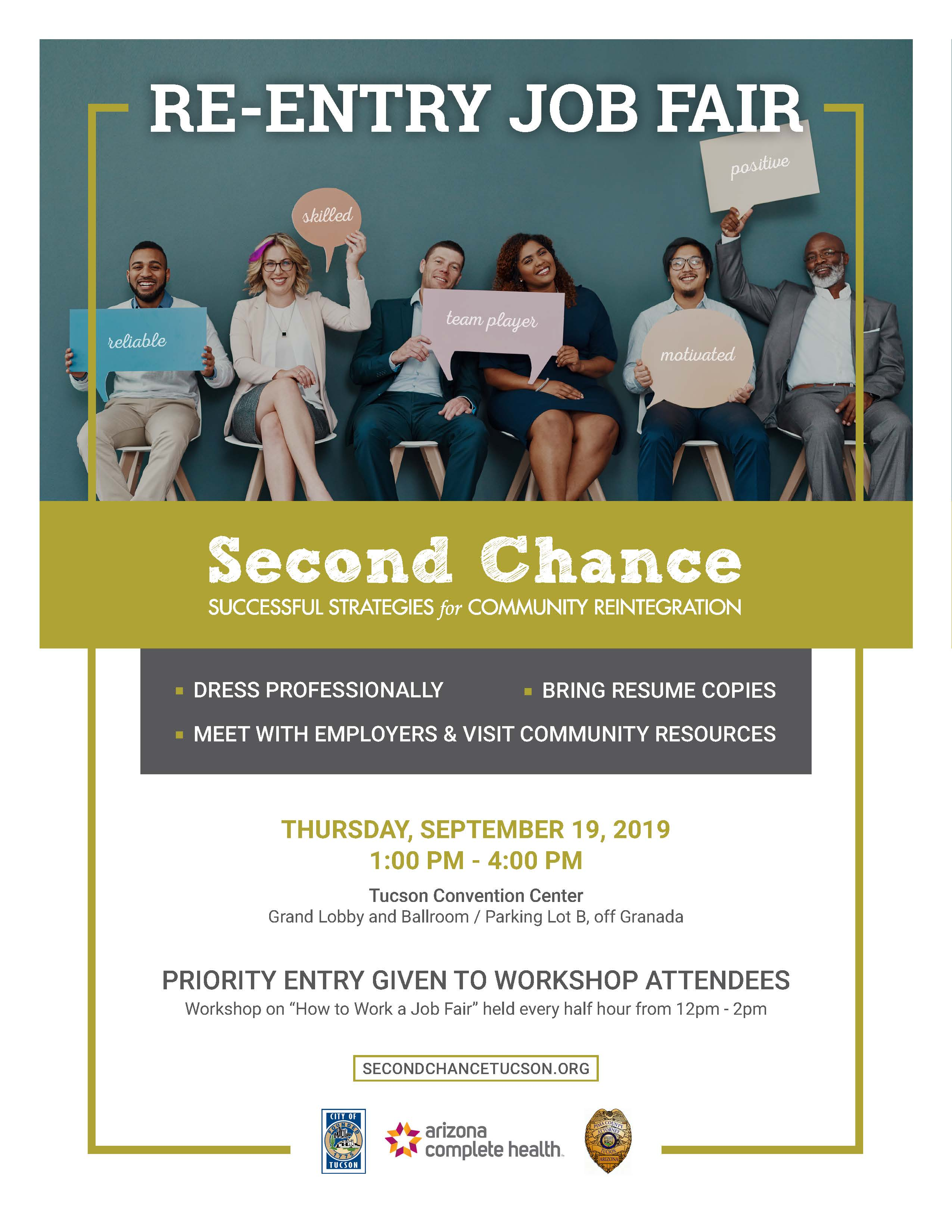 Second Chance Re-Entry Job & Resource Fair