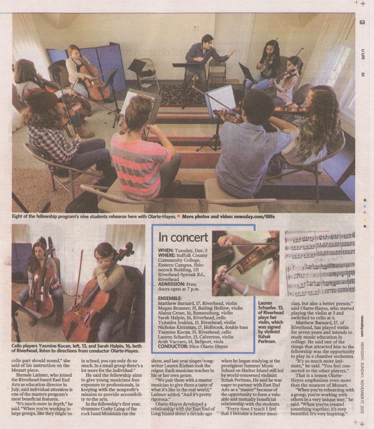 Newsday Article 11/17/2013, Page 2