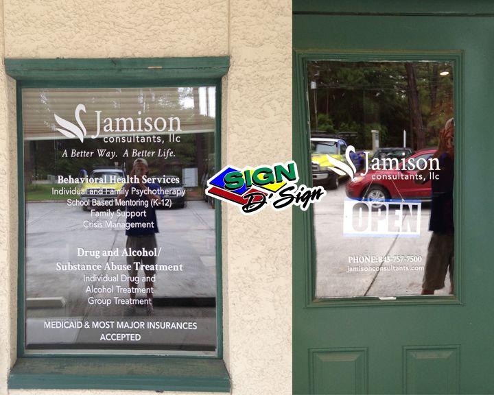 Jamison Window Lettering