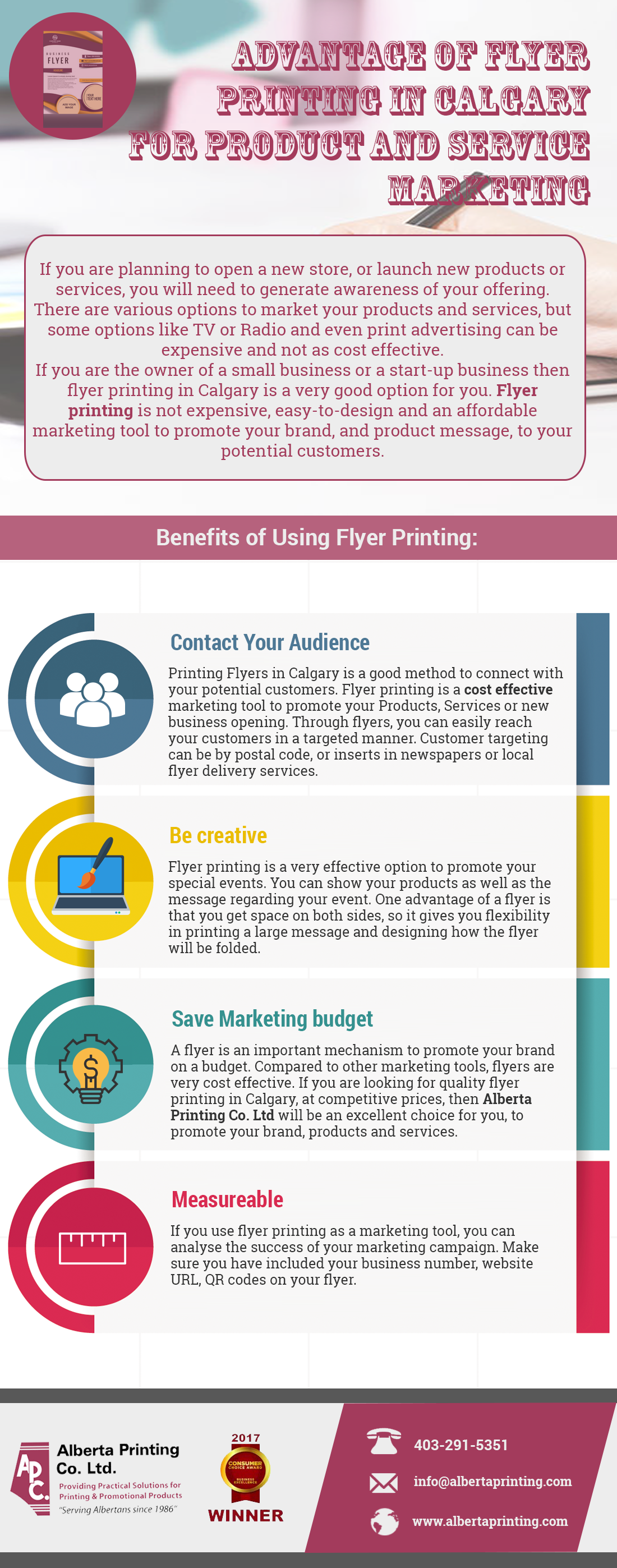 Advantage of Flyer Printing in Calgary for Product and Service Marketing