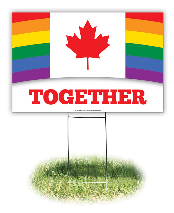 Lawn Sign - Canada: Together Pride