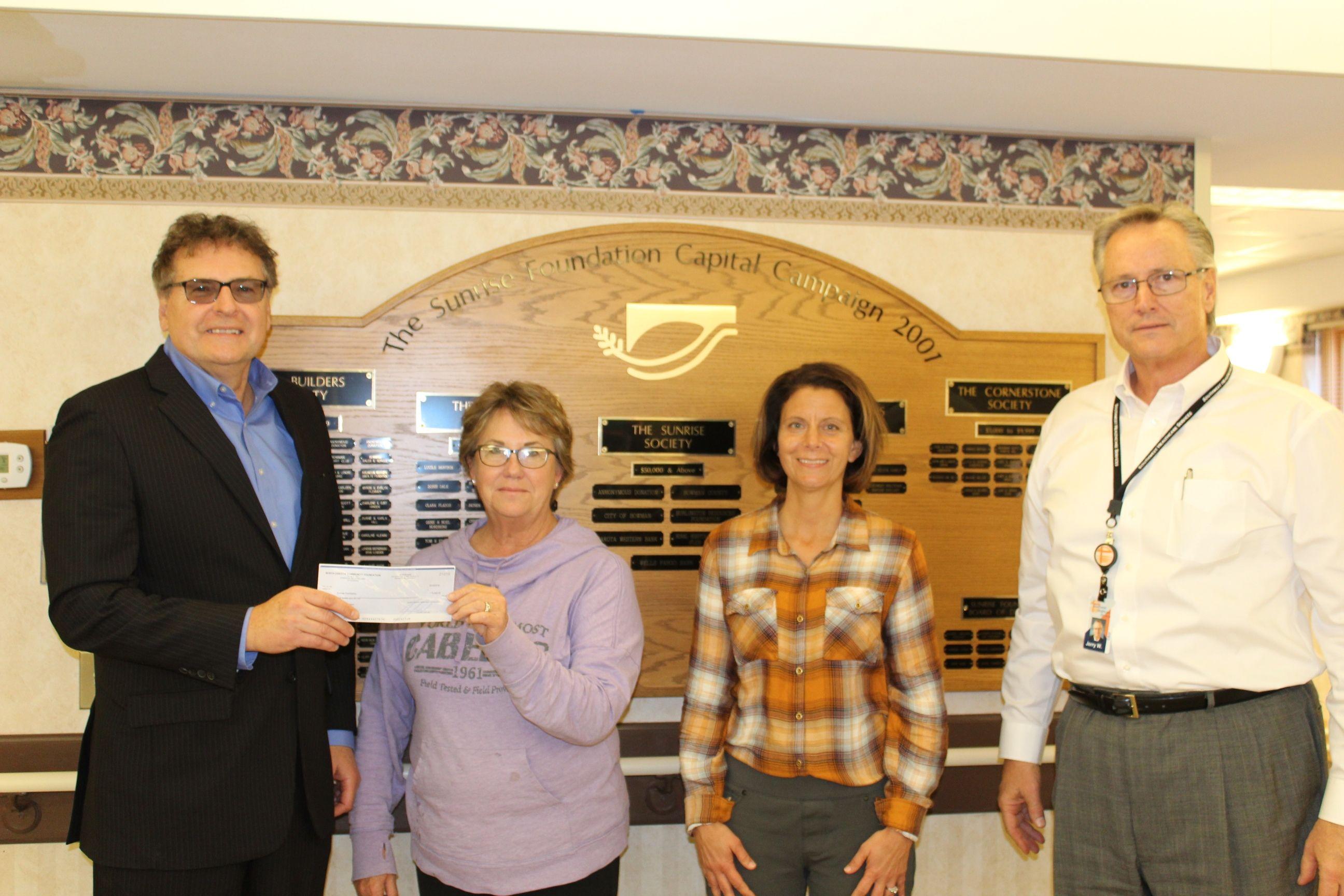 Sunrise Foundation receives grant