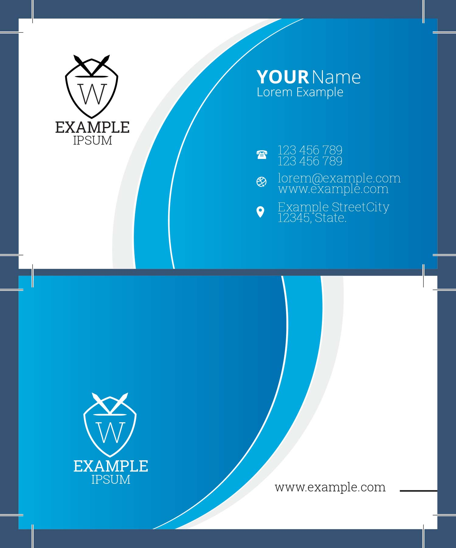 Same Day Business Cards - Free Shipping - Full Color - One Sided - (Back side printing available)