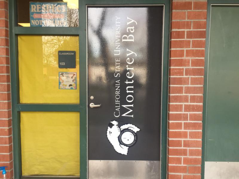 Door window graphics for schools Whittier CA
