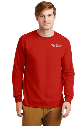 G240 Gildan Adult Ultra Cotton® 6 oz. Long-Sleeve T-Shirt Red