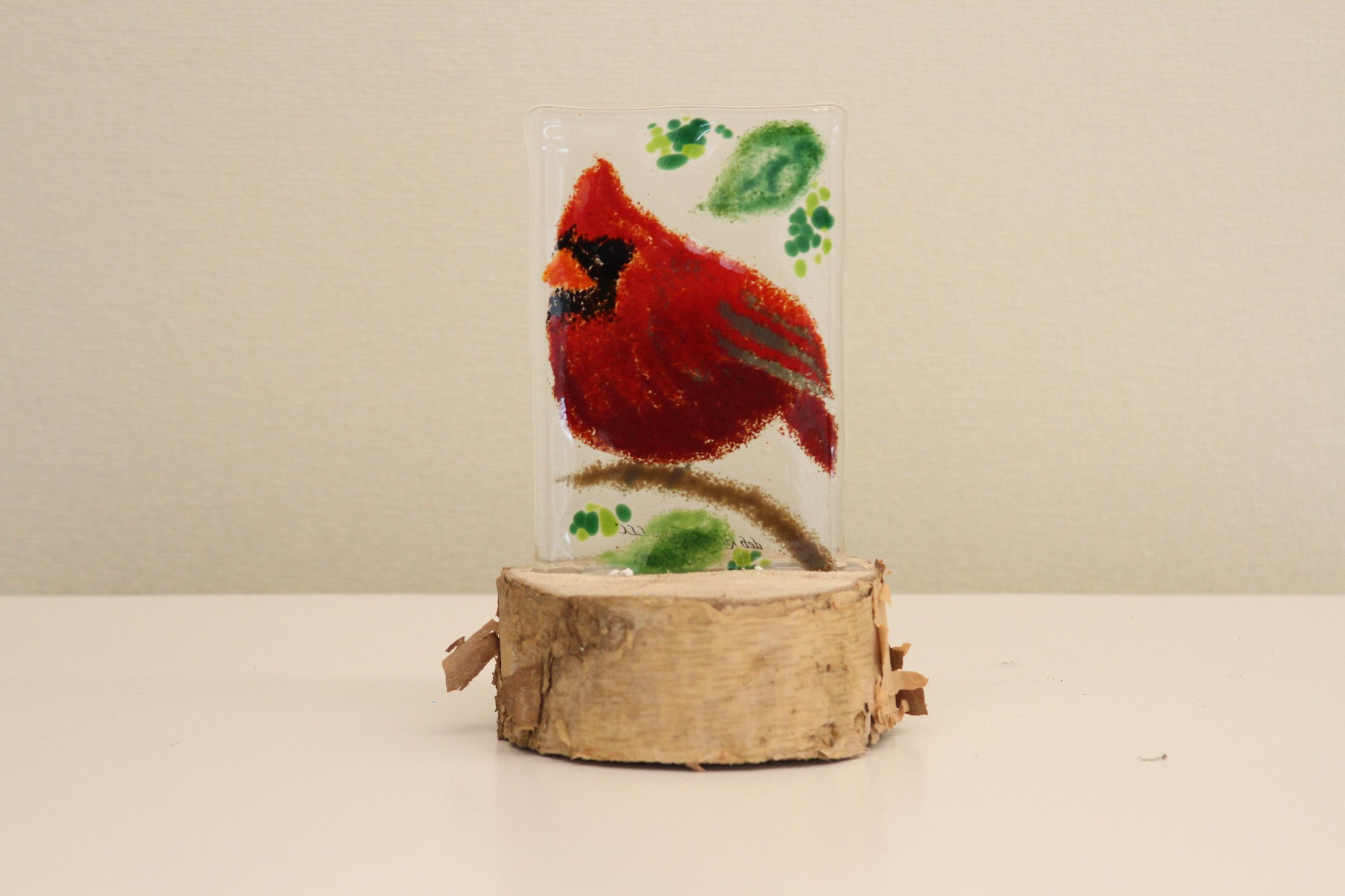 Cardinal (on Stump)