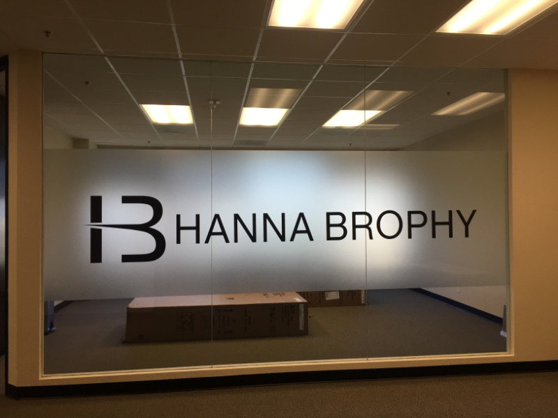 Etched and Frosted Window Graphics and Treatments Orange County CA