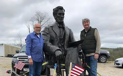 Moving Lincoln Statue