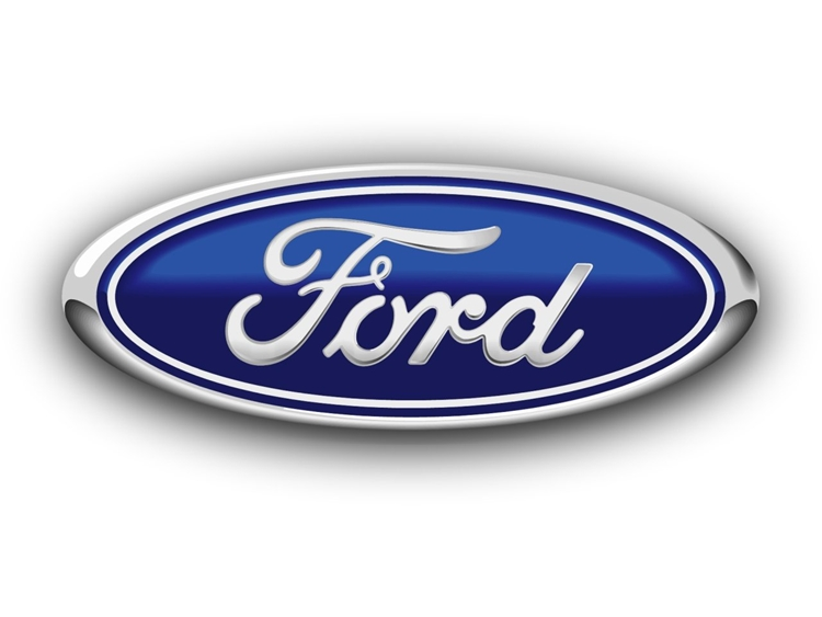 Z35306 - Carved  Shiny Aluminum  Wall Plaque of the Logo  for  the Ford  Corporation