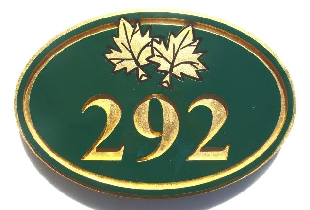 AG115 -  Address Sign with  Maple Leaf