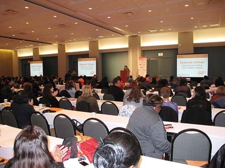YWCA Hartford Region CEO Deborah Ullman speaks at the Money Conference for Women